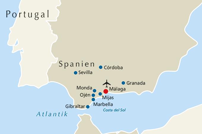 Andalusien Karte Spanien.8 Tage 4 Sterne Studienreise Nach Andalusien Reisedetails
